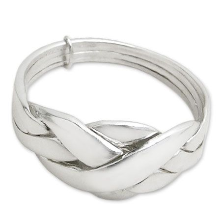 turkish wedding ring in silver with four bands - Turkish Wedding Ring