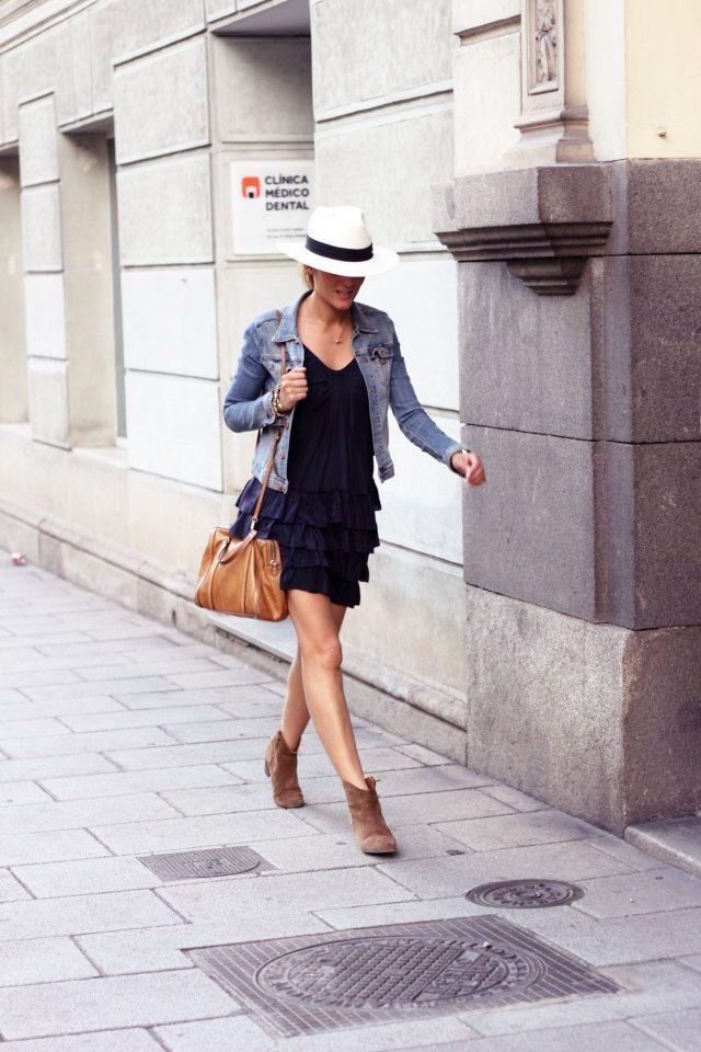 Silk dress, sita murt, panama hat, BIMBA Y LOLA, isabel marant dicker boots.