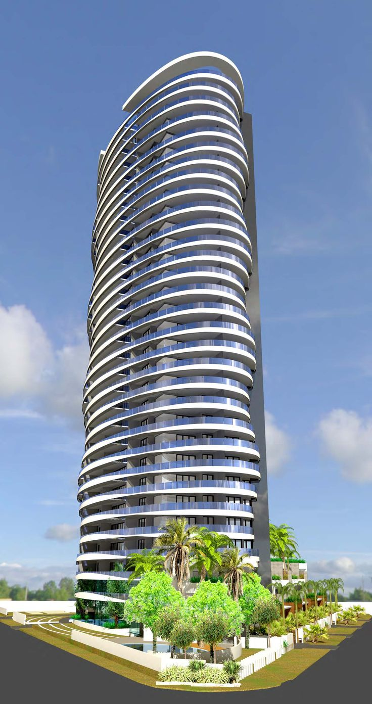 Apartment tower on Stanhill Dr, Chevron Island