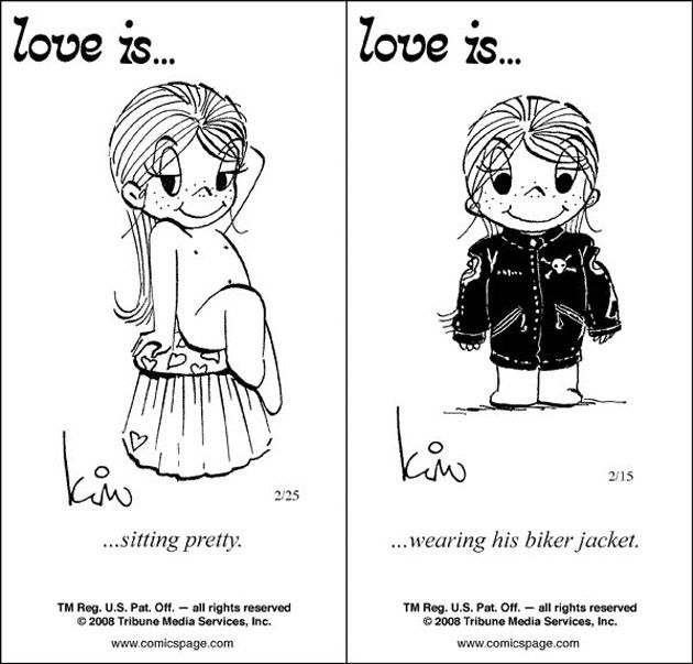 """Love Is Cartoons By Kim 