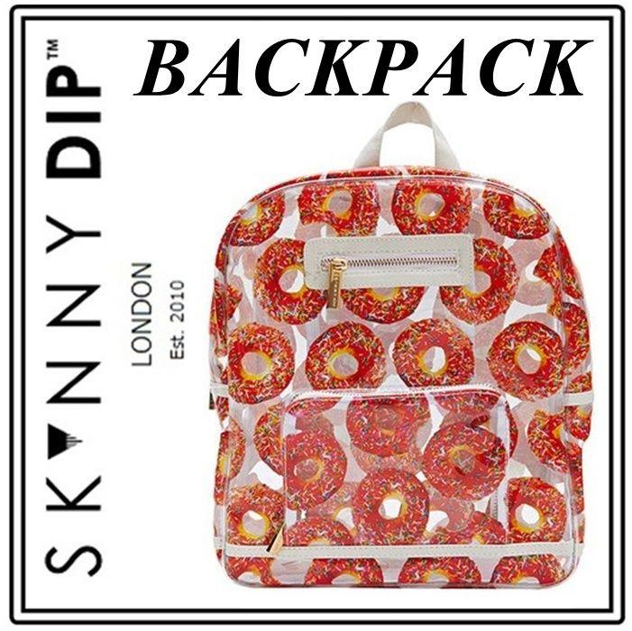 skinnydip スキニーディップ ロンドン スイーツ バックパック ドーナッツ 模様  キュート デザイン リュックサック ドーナツ バッグ かわいい 海外 ブランド