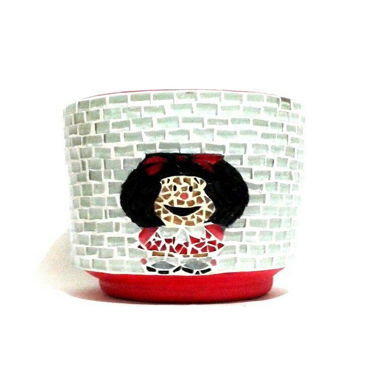 maceta mosaico mafalda