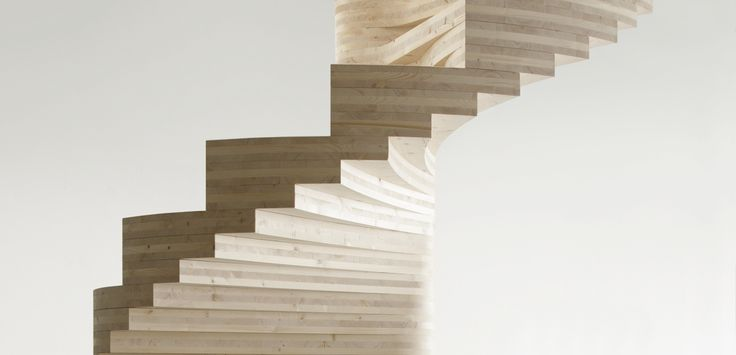 Spiral staircase in solid wood. Design by Tron Meyer, Norway. www.risameyer.com