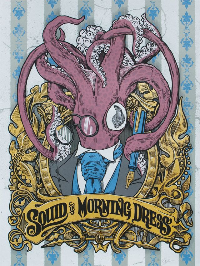 Steamy squid in morning dress!  What it says on the label.
