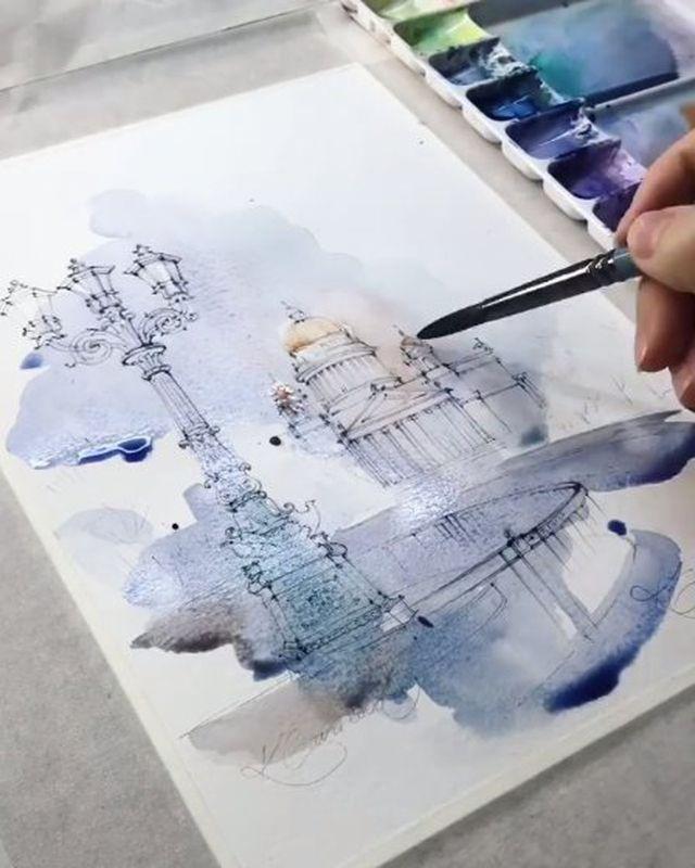 Watercoloris Painting Watercolor Illustration Watercolor