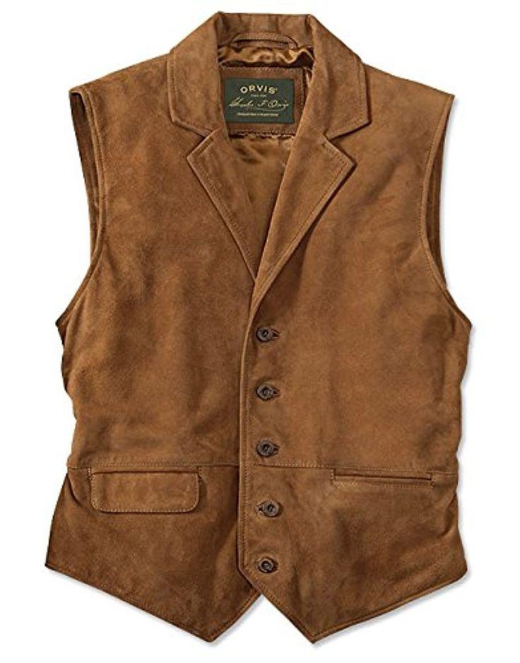 Orvis Cfo Sueded Lapel Vest, Medium at Amazon Men's Clothing store: Outerwear Vests