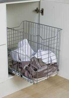 cesto embutido para armário da lavanderia