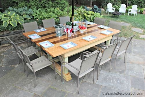 "That's My Letter: ""O"" is for Outdoor Trestle Dining Table"