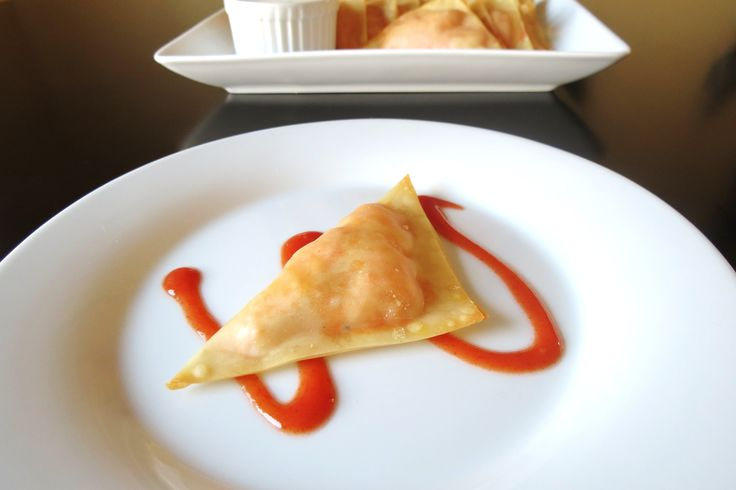 Buffalo Chicken Wing Wontons - If you like chicken wings, you'll love this recipe!