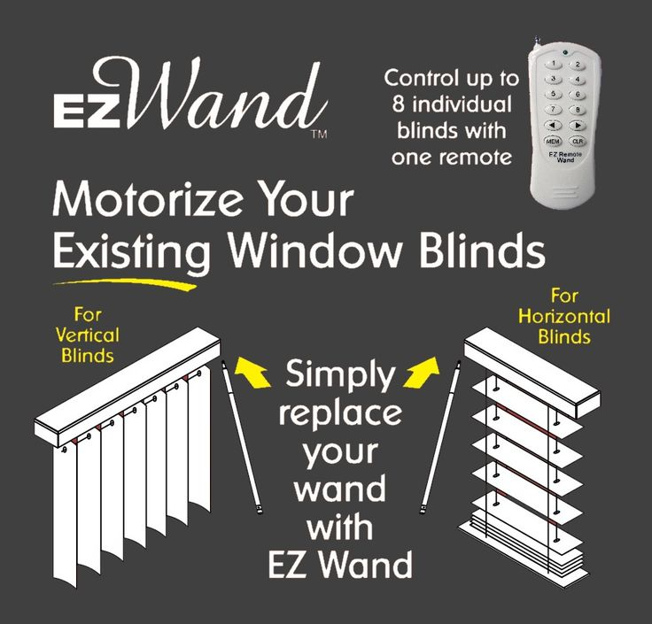 Motorize Your Existing Window Blinds Simply Replace Your Want With Ez Wand Interior Design