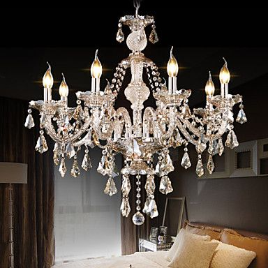 Retro+Cognac+Color+K9+Crystal++Modern+Chandelier+with+8+Lights+–+USD+$+246.99