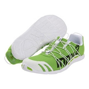 Inov-8 Bare X Lite 150 Lime / White - The lightest shoe in the Road range. Includes a one piece upper and quick lace system, making it prefect for race day and triathlon. Incorporates zero drop with a 7mm midsole to provide underfoot cushioning and protection.
