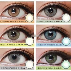 a 1 par de ojos grandes lentes de contacto de colores cosmetic cosplay party ene2