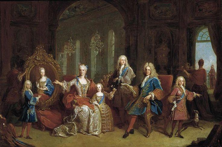 La muerte de Felipe V, su marido la obliga a iniciar las obras de su nueva residencia, el Real Sitio de Riofrio