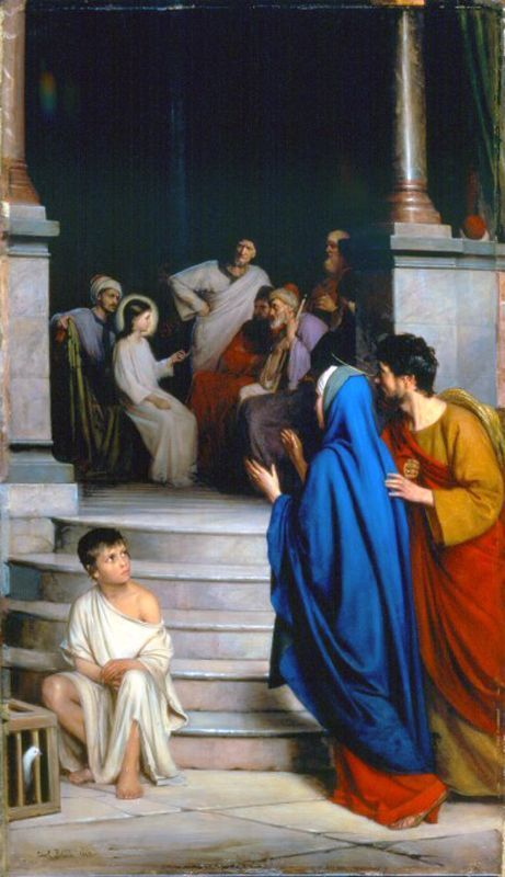 Christ Teaching at the Temple by Carl Heinrich Bloch: