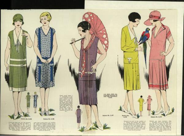 1925-1929 Women 100 Low Waists, Short Skirts, Shingled Hair