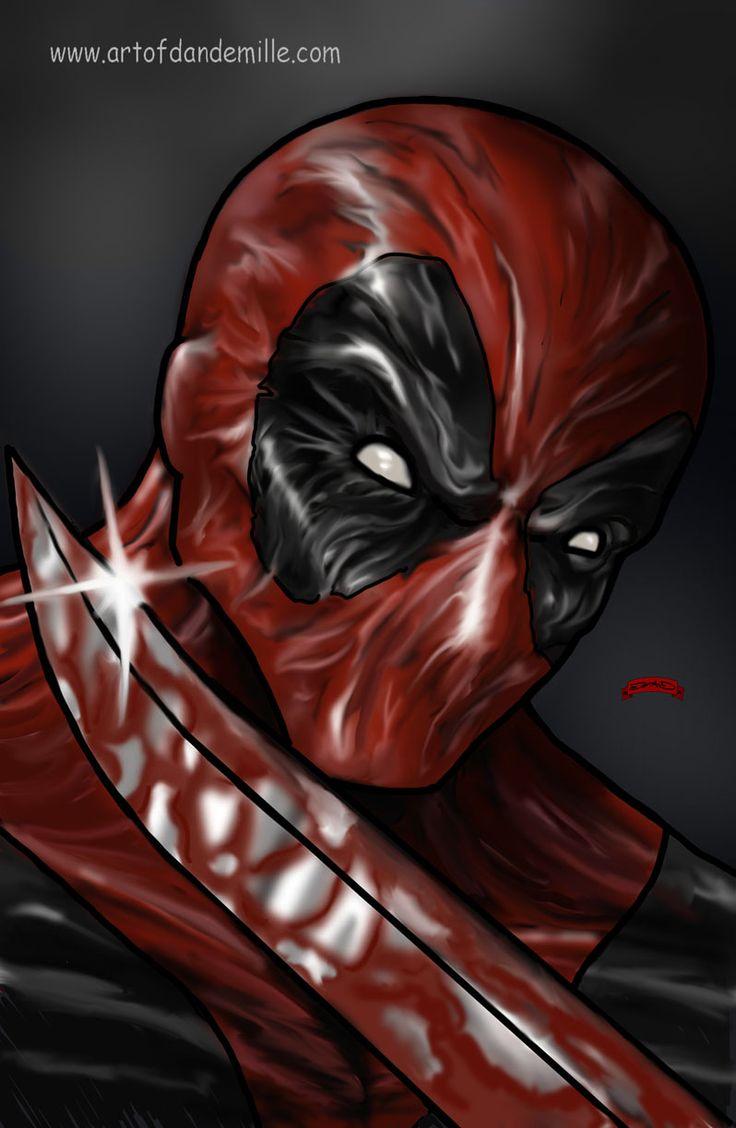 #Deadpool #Fan #Art. (Deadpool Merc Blade Marvel Comic ) By: Dan DeMille. ÅWESOMENESS!!!™ ÅÅÅ+