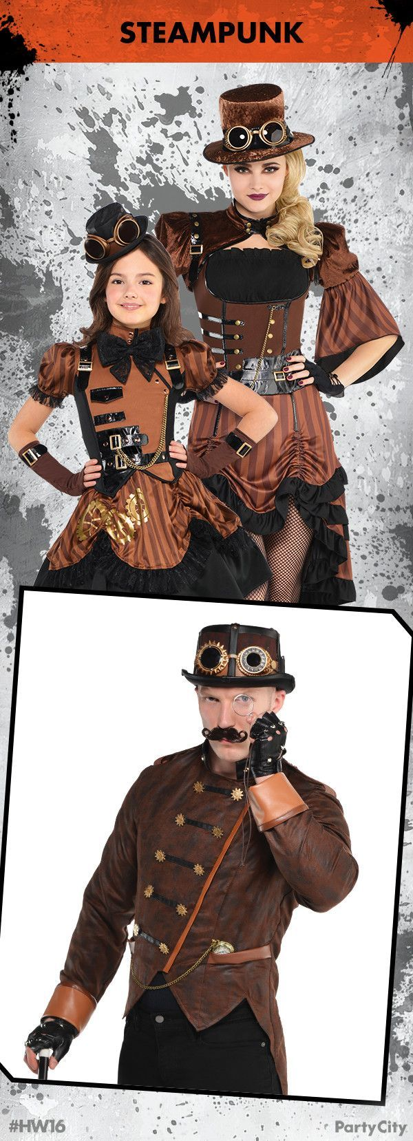 Rule Halloween and dress to thrill with Steampunk costumes from Party City! #bff...