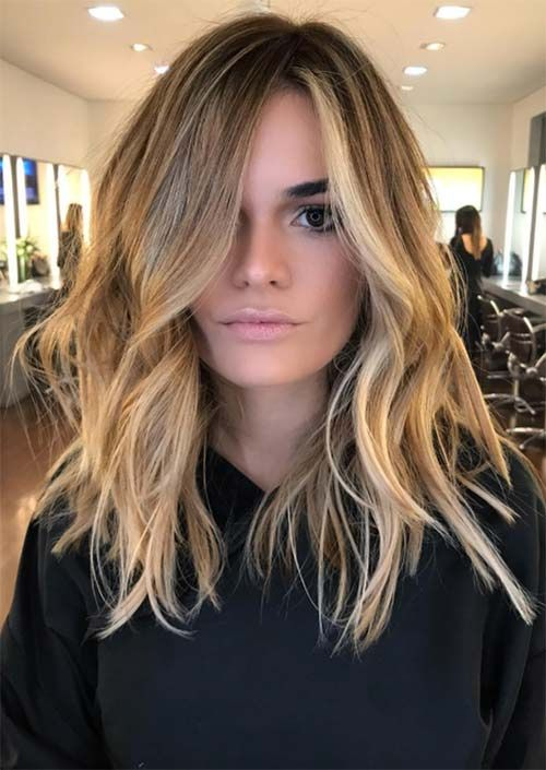 51 Medium Hairstyles & Shoulder-Length Haircuts for Women in 2018 ..    Cabelo loiro, Idéias de cabelo loiro, Cabelo