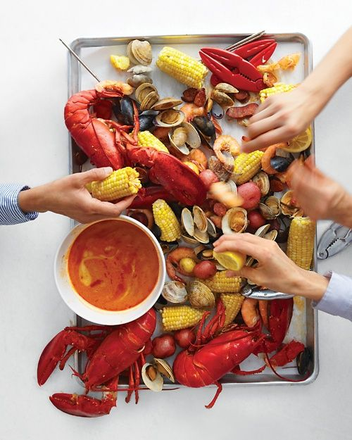 Stove Top Clambake via Martha Stewart Recipes- I will definitely be trying this recipe this summer