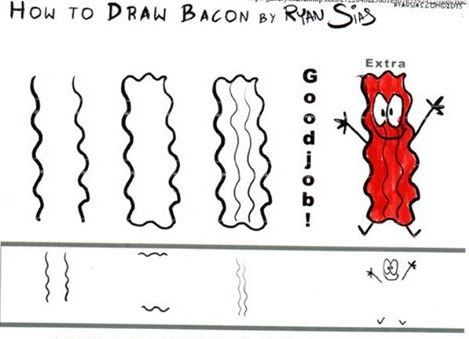 How to Draw Bacon by Ryan Sias | Bacon | Pinterest | Bacon