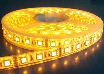 Banda cu LED , 1 METRU chip 5050 smd , 60 led/m , lumina calda , 3500k , interior , fara silicon , IP20