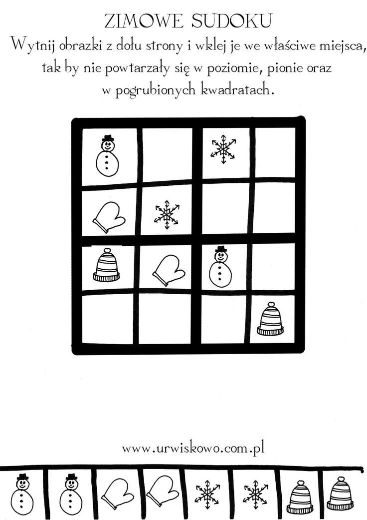 """Zimowe kolorowanki - styczeń ~ """"URWISKOWO"""""""
