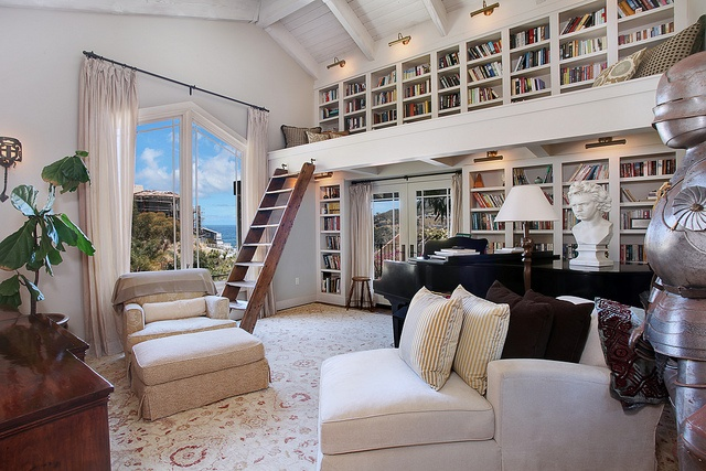 101Vieudelou07Library by jkoegel, via FlickrDreams Home, Home Libraries, Big Windows, Dreams House, Book, Libraries Design, Dreams Living Room, Reading Room, Catalina Islands