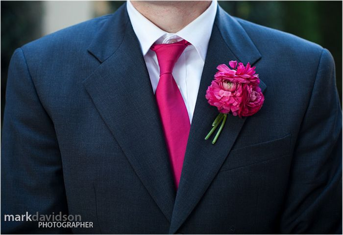 Pas de thème de mariage mais une couleur : le rose fuchsia | Mademoiselle Dentelle