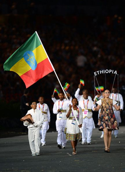Ethiopian Team at the 2012 London Olympics Opening Ceremony