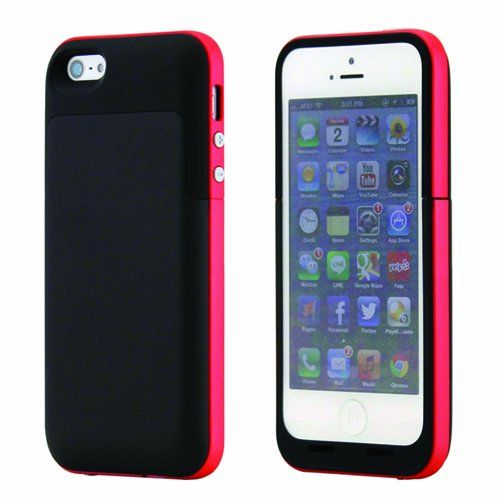 Black and red iphone 5 5s and SE power charging cases available from our online webstore