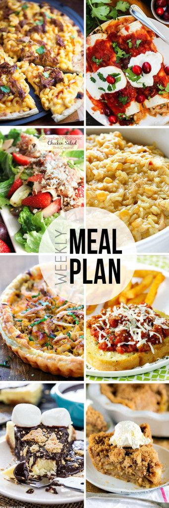 """STRESS FREE Weekly Meal Plan Sunday 22 so you always know """"What's For Dinner?"""" before ever being asked. Top recipes from favorite bloggers who have done all your time consuming meal planning for you!"""