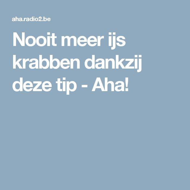 Nooit meer ijs krabben dankzij deze tip - Aha!