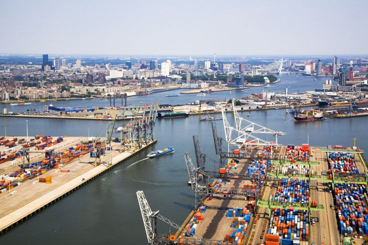 Rotterdam. Biggest harbour in Europe.