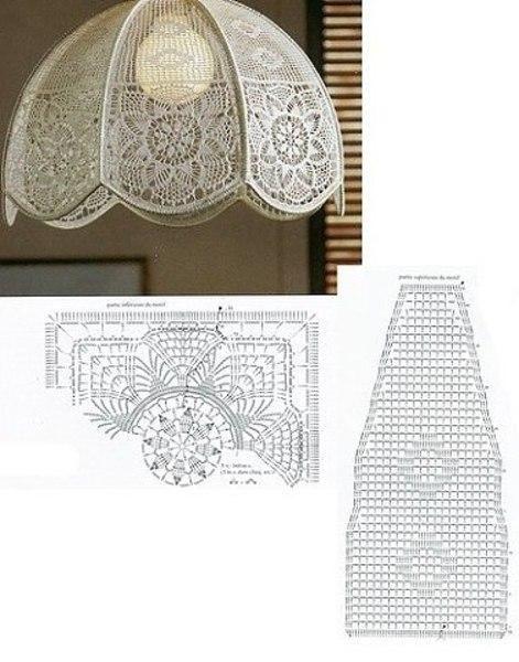 Вязаные идеи | ВКонтакте | Lamp shades | Lámpara de ...
