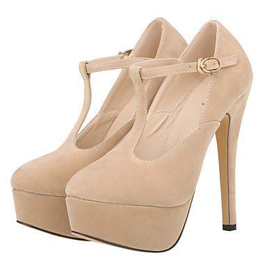 Women's+Shoes+Fabric+Stiletto+Heel+Heels+/+Platform+/+Round+Toe+Heels+Party+&+Evening+/+Dress+/+CasualBlack+/+–+USD+$+39.99