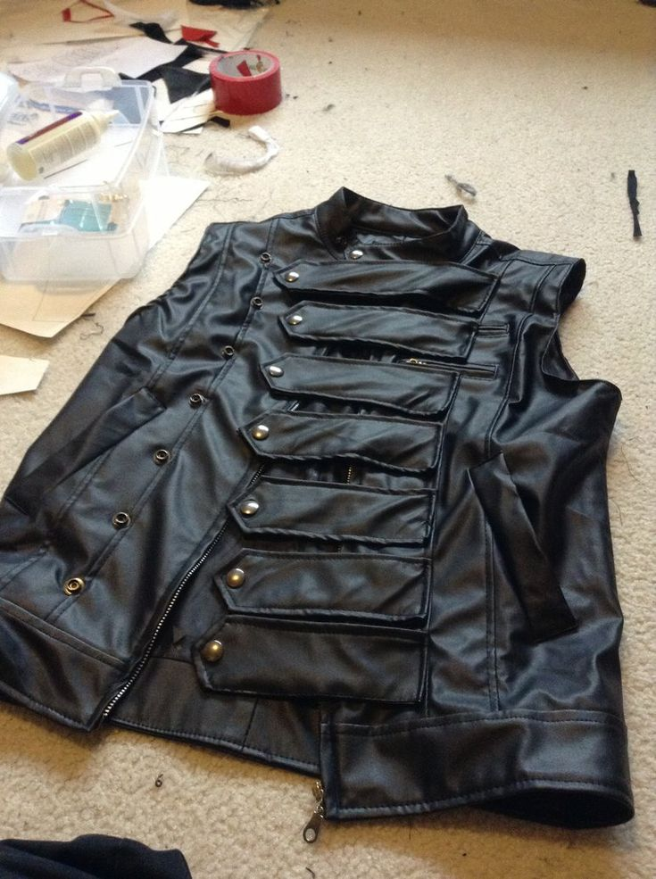 Bucky Barnes/Winter Soldier vest 2 by TimeyWimey-007