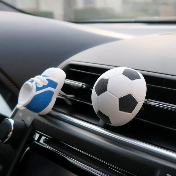 Soccer Gifts Soccer Ball Mom Soccer Gifts For Men Coach Gift Car Air Freshener Car Accessory Vent Clip Scent Diffuser For Team Player Car Air Freshener Soccer Gifts Scent Diffuser