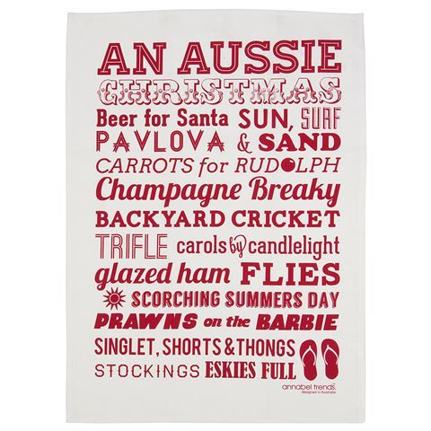 Annabel Trends - Aussie Christmas Tea Towel | Peter's of Kensington