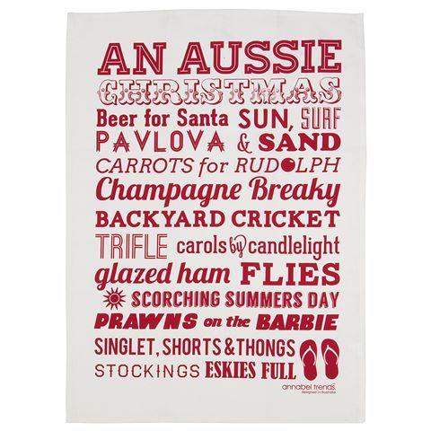 My 2013 Christmas!!! Annabel Trends - Aussie Christmas Tea Towel | Peter's of Kensington