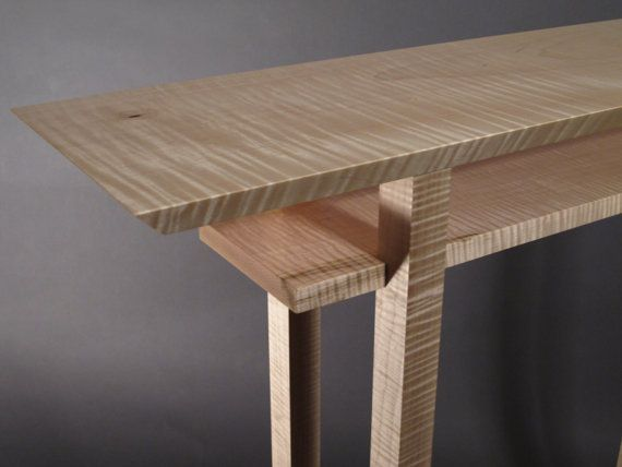 Live Edge Hall Table Wood Console Narrow Entryway