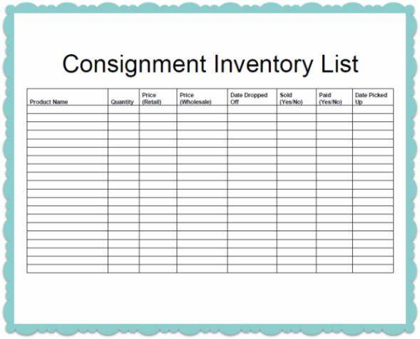 Consignment Inventory Template | news | Made Urban Inc./