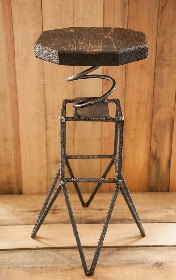 Rebar Spring Stool by GrizzlySupplies on Etsy
