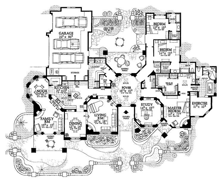home blueprints Google Search With images Mansion