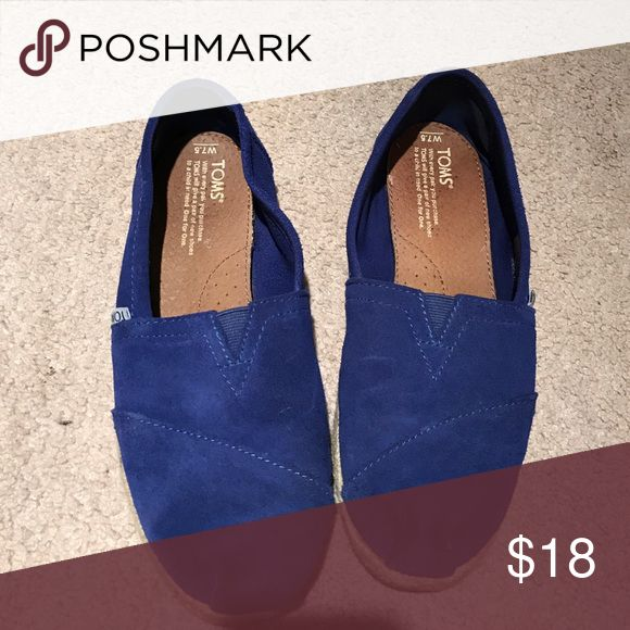 Bright blue toms Cobalt blue TOMS Shoes Flats & Loafers