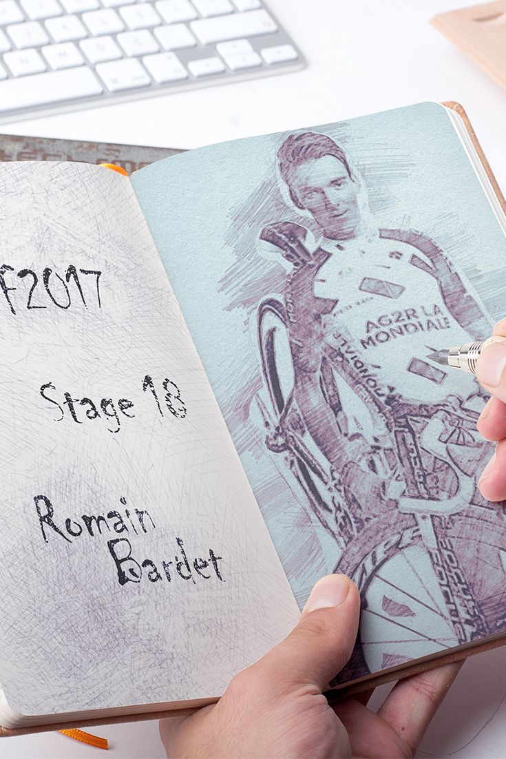 Stage 18 #TDF who else if not #Bardet today ✍️#LaCourse ️Col d'Izoard
