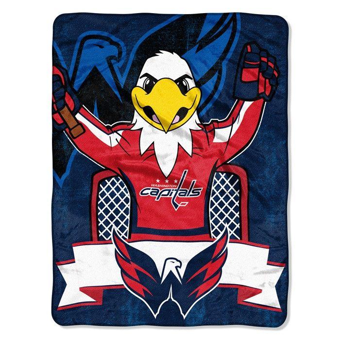 Washington Capitals NHL Mascot Micro Raschel Throw. Visit SportsFansPlus.com for Details.