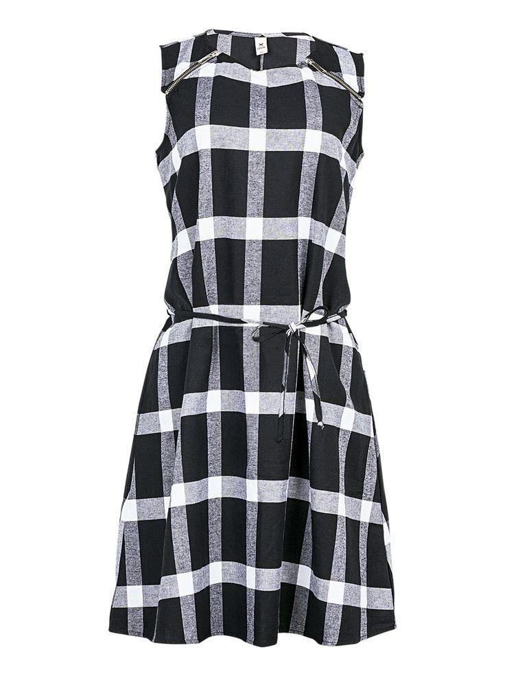 Vestido hering preto e branco