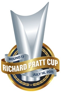 Richard Pratt Cup logo designed for the Carlton Football Club and used in its games versus Collingwood
