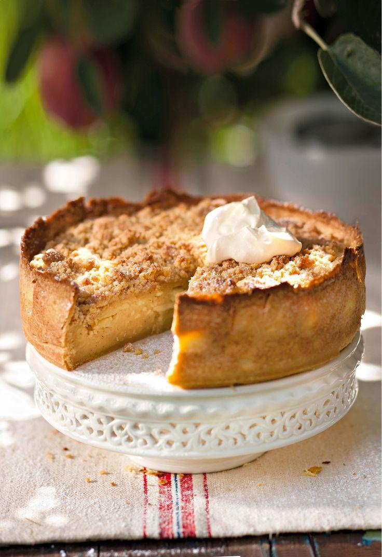 Dié pastei verbeel hom hy's ook kaaskoek. Die Hollanders maak iets soortgelyk wat hulle appelstreusel noem. Hier's ons weergawe – geniet saam met warmsjokolade!
